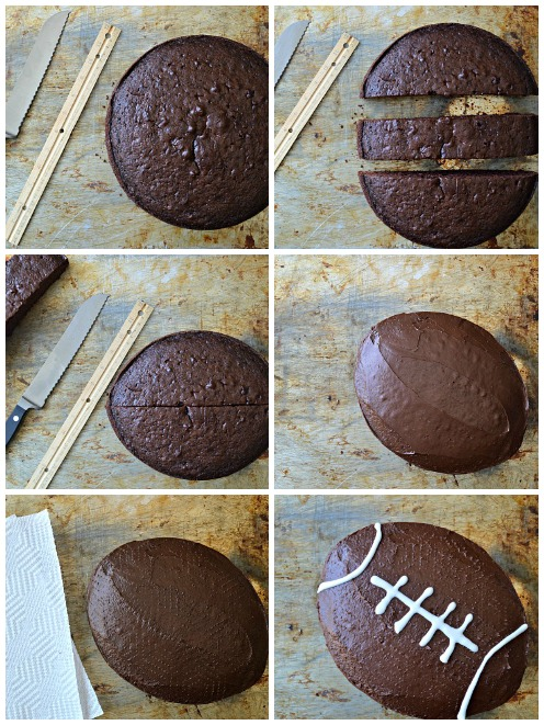How To Make A Football Cake Without Using A Specialty Pan Savvymom