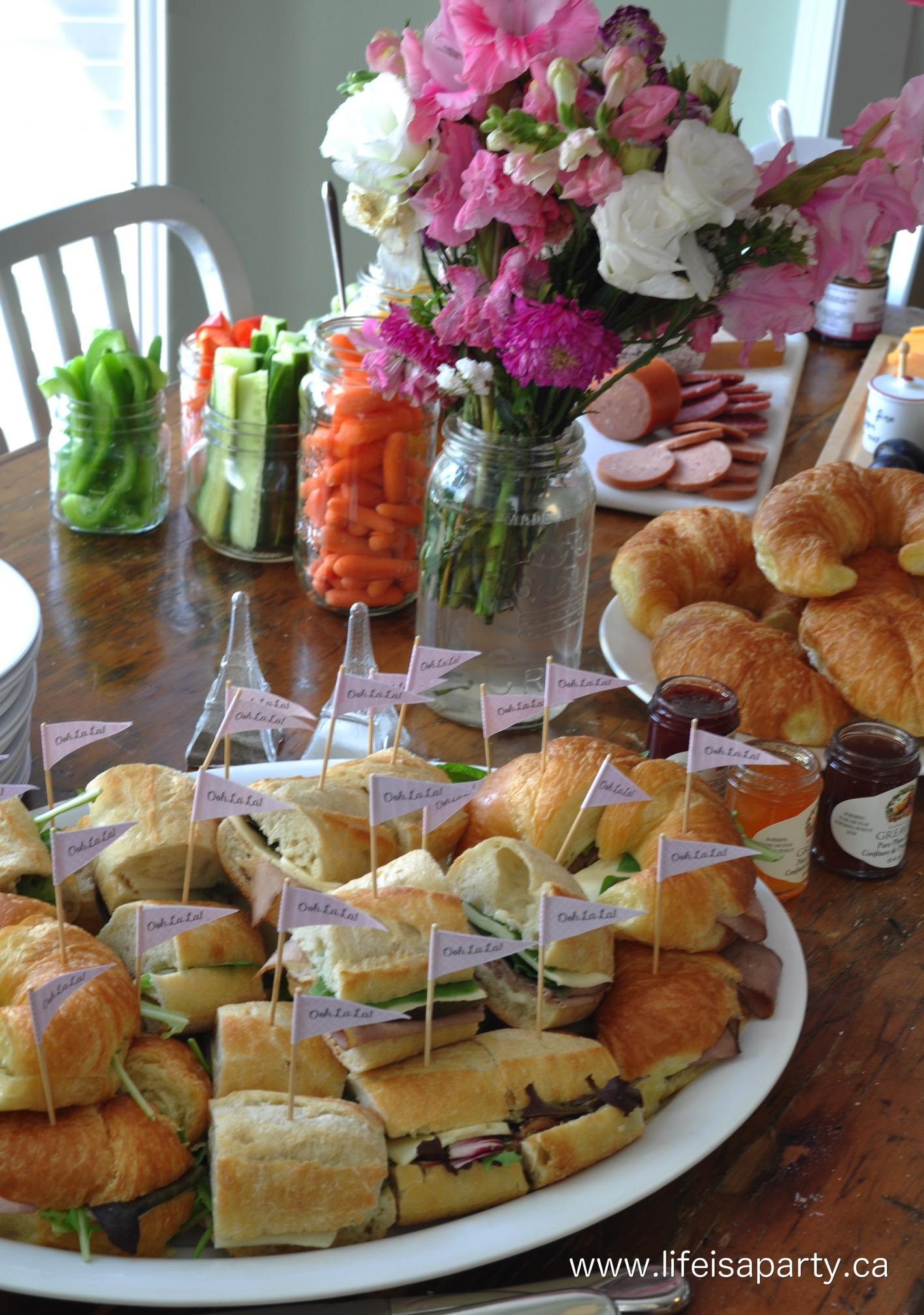Paris Birthday Party The Food