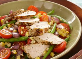 Family Meal: Turkey, Green Bean, Corn and Tomato Salad