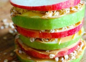 Apple & Peanut Butter Stacks