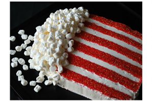 Bag of Popcorn Birthday Cake