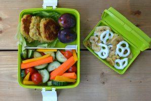 Bento Box Lunch #2 - Crispy Chickpea Patties