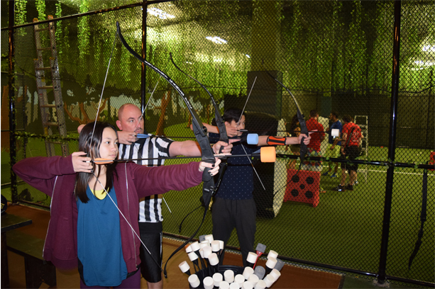where to play and learn archery as a family in Calgary
