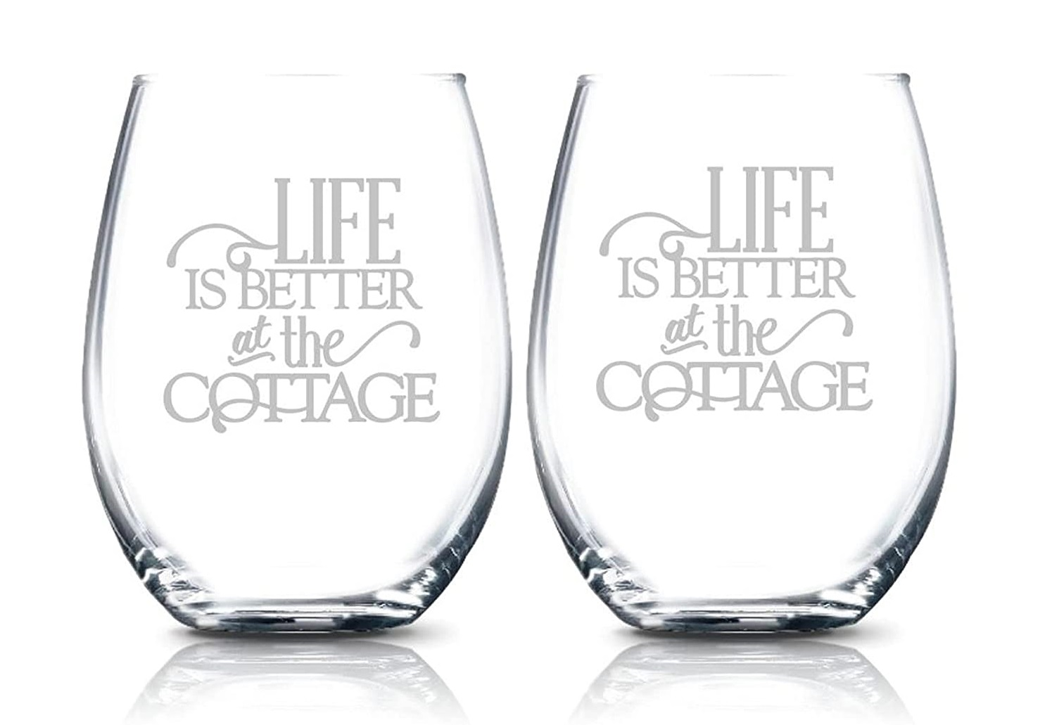 Thank You Gifts for the Cottage - Wine Glasses