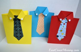 shirt and tie fathers day cards