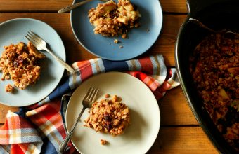 Slow Cooker Apple and Cranberry Crisp - Full Size