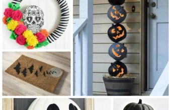 Halloween front door craft ideas porch decor
