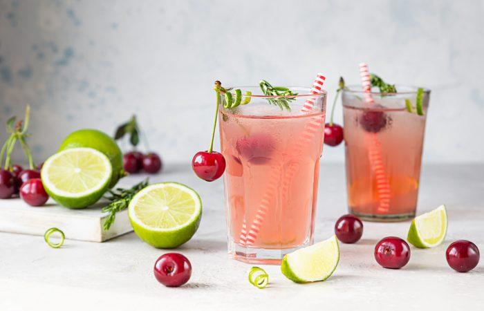 Summer Cocktails - Sour Cherry Gin Smash - SavvyMom