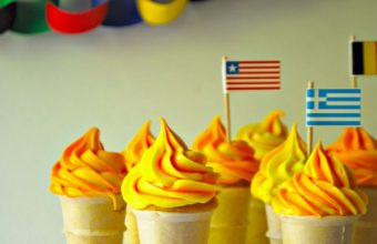 Olympic Party Torch Cupcakes - SavvyMom