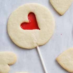 Stained Glass Heart Cookies on a Stick