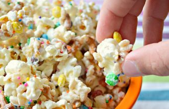 multicolour sprinkle birthday popcorn