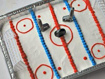 Fantastic Ice Rink Birthday Cake Savvymom Personalised Birthday Cards Cominlily Jamesorg