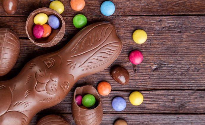 Chocolate Easter Bunny and Candy
