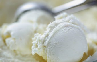 Scooping Vanilla Ice Cream