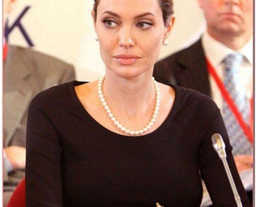 Angelina Jolie Attends G8 Summit