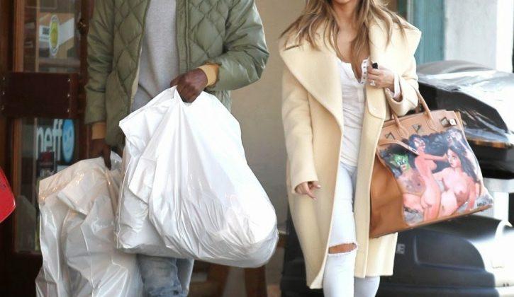 kim-kardashian-los-angeles-celine-coat-saint-laurent-pumps-hermes-george-condo-birkin-3