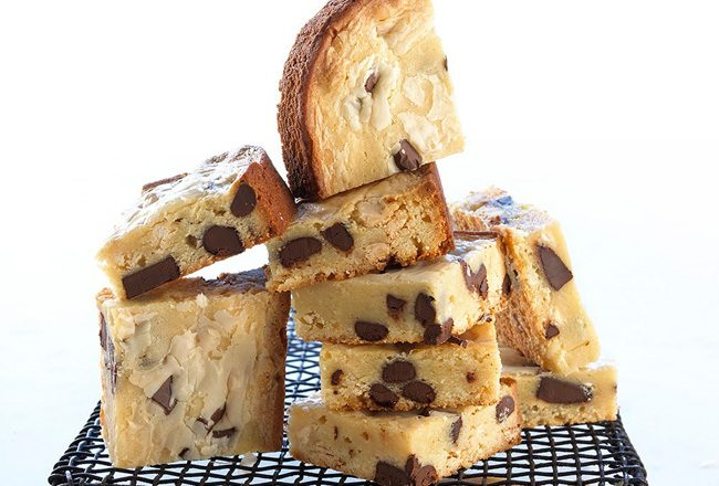 White chocolate blondie squares