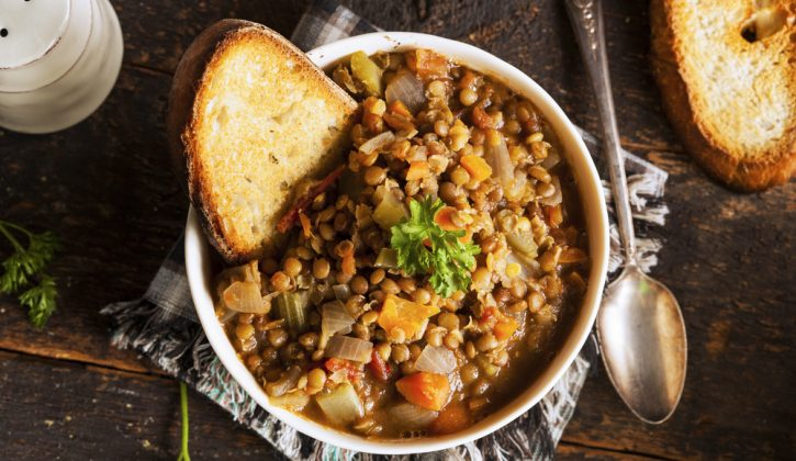 Spicy lentil, tomato and vegetable stew