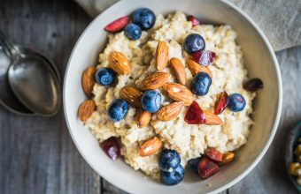 Brown Sugar Oatmeal with almonds and berries