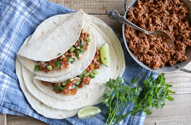 quick and easy beef tacos, easy weeknight dinner recipe