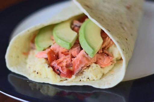 Salmon-and-Avocado-Breakfast-Burrito