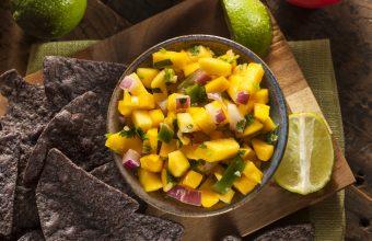 mango salsa, Mexican recipe, quick and easy appetizer recipe