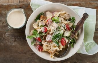 Bowl of Chicken Caesar Pasta Salad