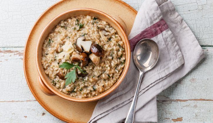 Mushroom risotto, 5 ways with risotto