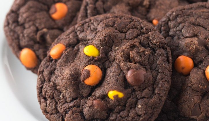 Reeses-Double-Chocolate-Cookies-www.thereciperebel.com-2-of-5