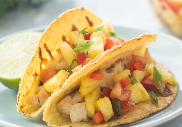baked-hawaiian-chicken-tacos-with-pineapple-salsa-www.thereciperebel.com-2-of-3-600x600