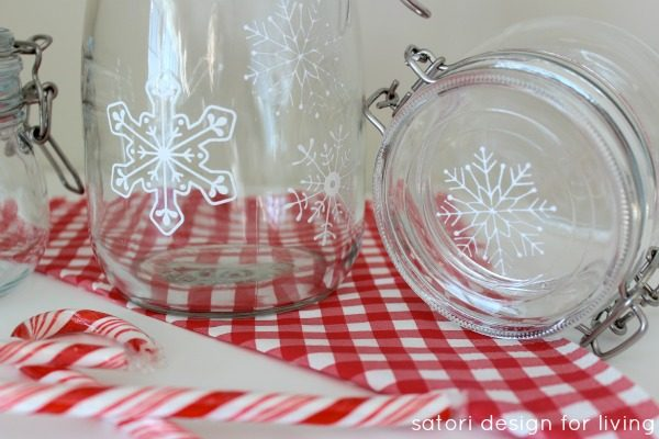 DIY-Snowflake-Glass-Canisters-Glass-Paint-Tutorial