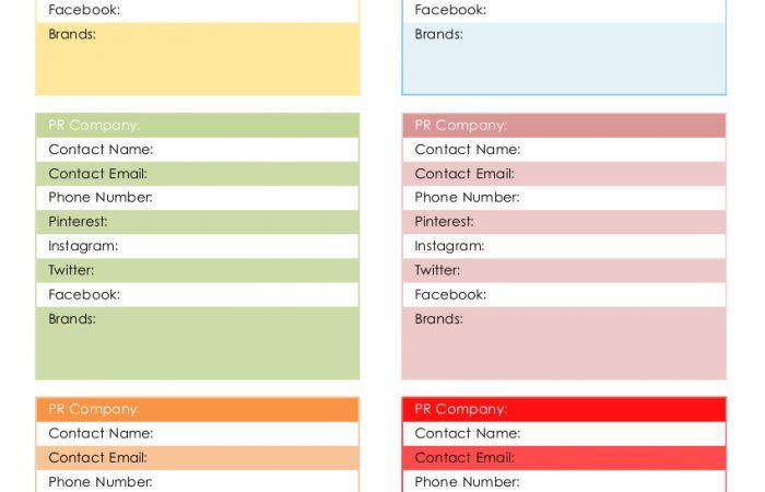 PR-Company-Contact-Template