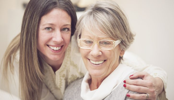 Happy senior mother and daughter portrait