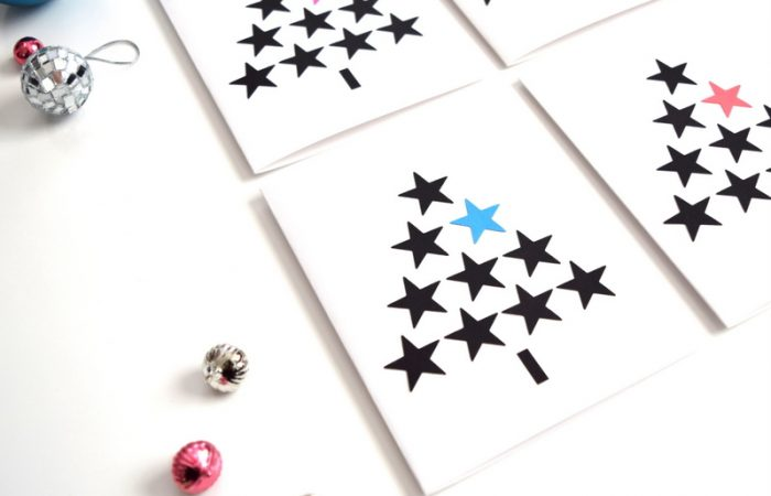 DIY-Christmas-cards-using-a-star-punch-northstory