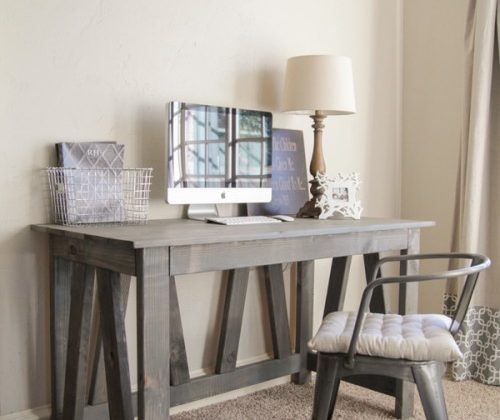 DIY-gray-wash-stained-wood-desk