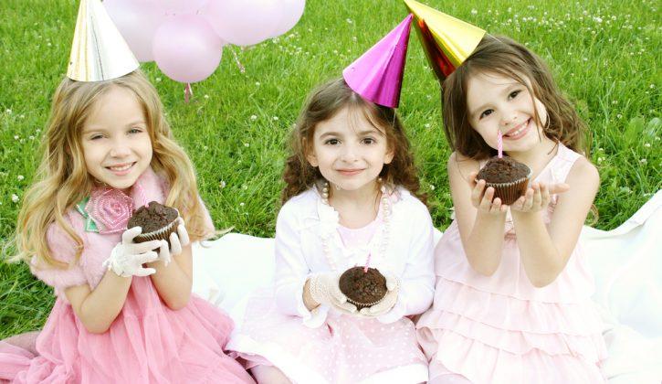 Girls Birthday Cupcakes Outside