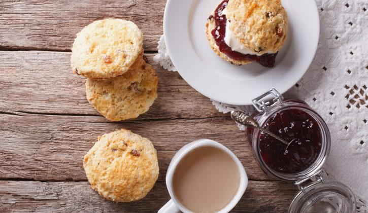 Scones with Cream, Jam and Coffee