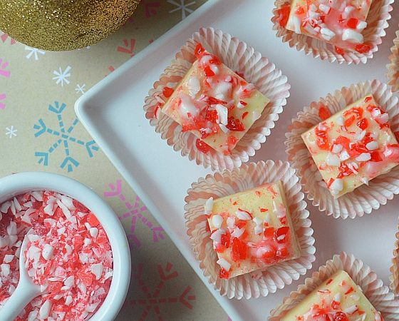 Candy Cane Fudge - 560x560