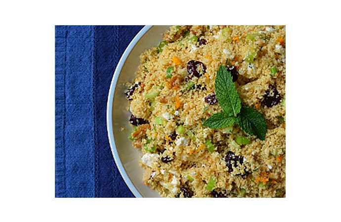 Couscous Salad with Cherries and Mint