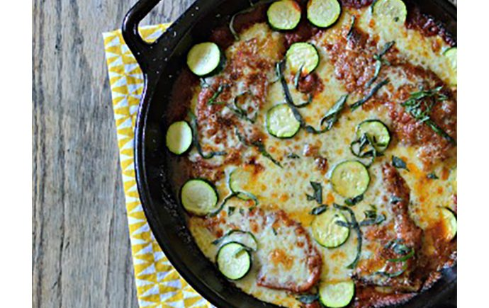 Skillet Chicken Parmesan with Zucchini