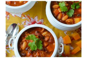 Three Bean and Turkey Sausage Chili