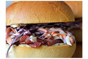 Corned Beef and Cabbage Slaw Sliders