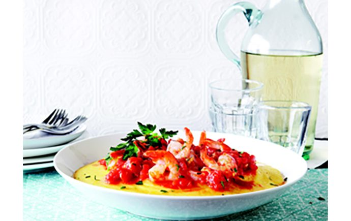 Shrimp with Bacon and Polenta