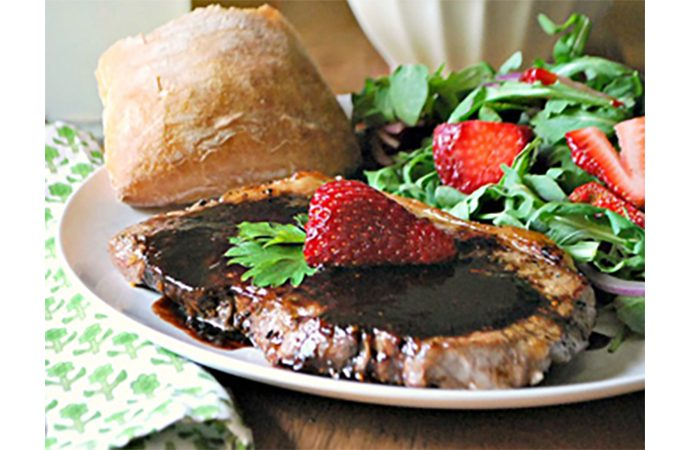Steak with Balsamic Strawberry Sauce