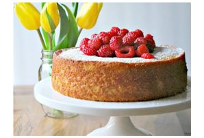 French Yogurt Cake With Berries