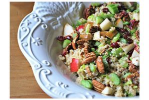 Quinoa Salad with Pears and Dried Cranberries