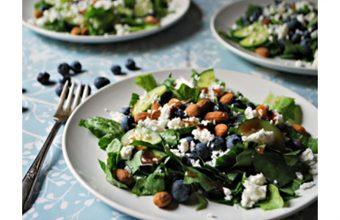 Blueberry, Almond and Feta Salad