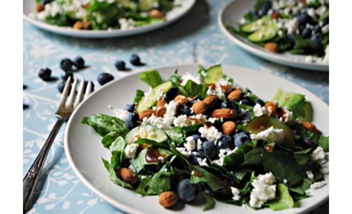 Blueberry, Almond and Feta Salad