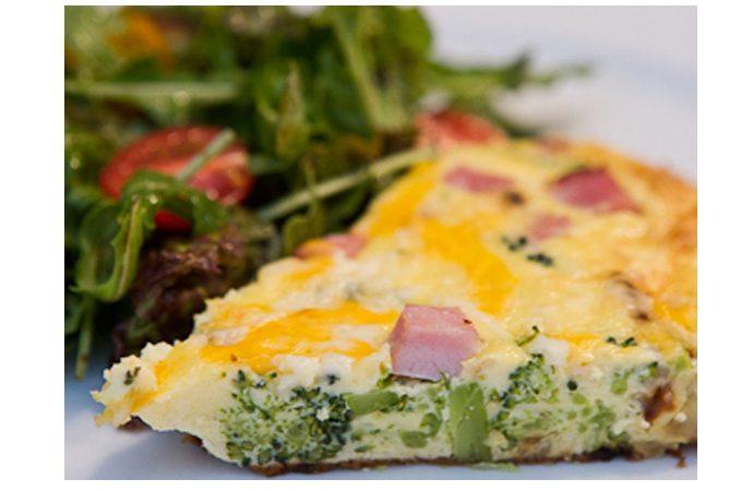 Frittata with Ham, Broccoli & Potato