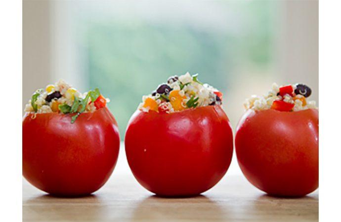 Quinoa Stuffed Field Tomatoes